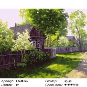 Весна на улочке Раскраска картина по номерам на холсте Z-GX5176