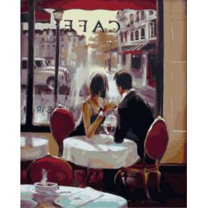 Встреча в кафе Раскраска картина по номерам на холсте Z-GX7568