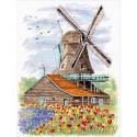 Ветряная мельница. Голландия Набор для вышивания Овен 1105