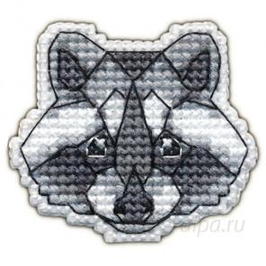 В рамке Енот набор Значок Набор для вышивания Овен 1094
