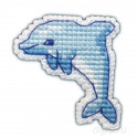 В рамке Дельфин набор Значок Набор для вышивания Овен 1096