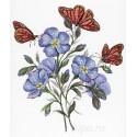 Цветок льна Набор для вышивания МП Студия