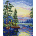 Лесное озеро Набор для вышивания МП Студия
