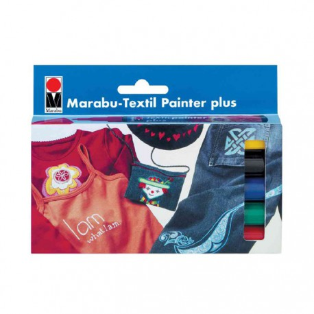 Textil Painter Plus Набор фломастеров 5шт. по ткани Marabu ( Марабу)