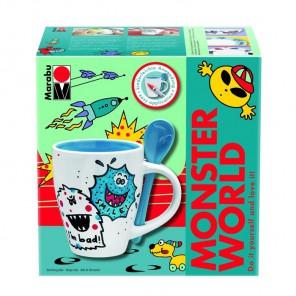 Монстры Набор для росписи керамики (без обжига) Marabu-Porcelain Painter Set