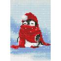 Пингвин в снегу Алмазная мозаика на подрамнике LC001