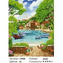 Количество цветов и сложность Бухта счастья Алмазная мозаика на подрамнике LG058