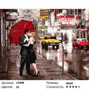 Количество цветов и сложность  Вдвоем в Нью-Йорке Алмазная мозаика на подрамнике LG048