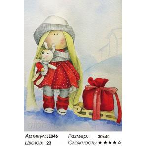 Количество цветов и сложность Кукла Даша Алмазная мозаика на подрамнике LE046