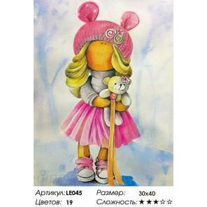Количество цветов и сложность  Кукла Лера Алмазная мозаика на подрамнике LE045