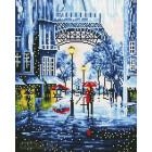 Прогулка под дождем Алмазная мозаика на подрамнике LG055