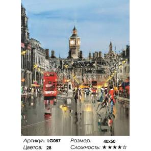 Количество цветов и сложность  Яркие краски Англии Алмазная мозаика на подрамнике LG057