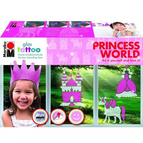 Принцесса Набор для декора стекла GlasTattoo Marabu ( Марабу)