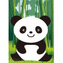 Веселая панда Алмазная частичная мозаика с рамкой X102