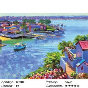 Количество цветов и сложность Сиреневый пейзаж Алмазная вышивка мозаика LZE002