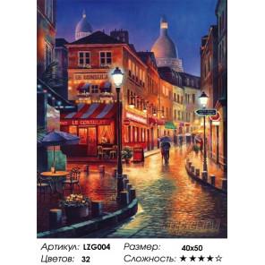 Количество цветов и сложность Улочки Европы Алмазная вышивка мозаика LZG004