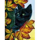 Черный кот Алмазная вышивка мозаика LZE043