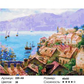 Количество цветов и сложность Сказочный мир Адриатики Раскраска картина по номерам на холсте Белоснежка 220-AB
