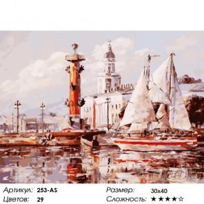 Количество цветов и сложность Санкт-Петербург. Кунсткамера Раскраска картина по номерам на холсте Белоснежка 253-AS