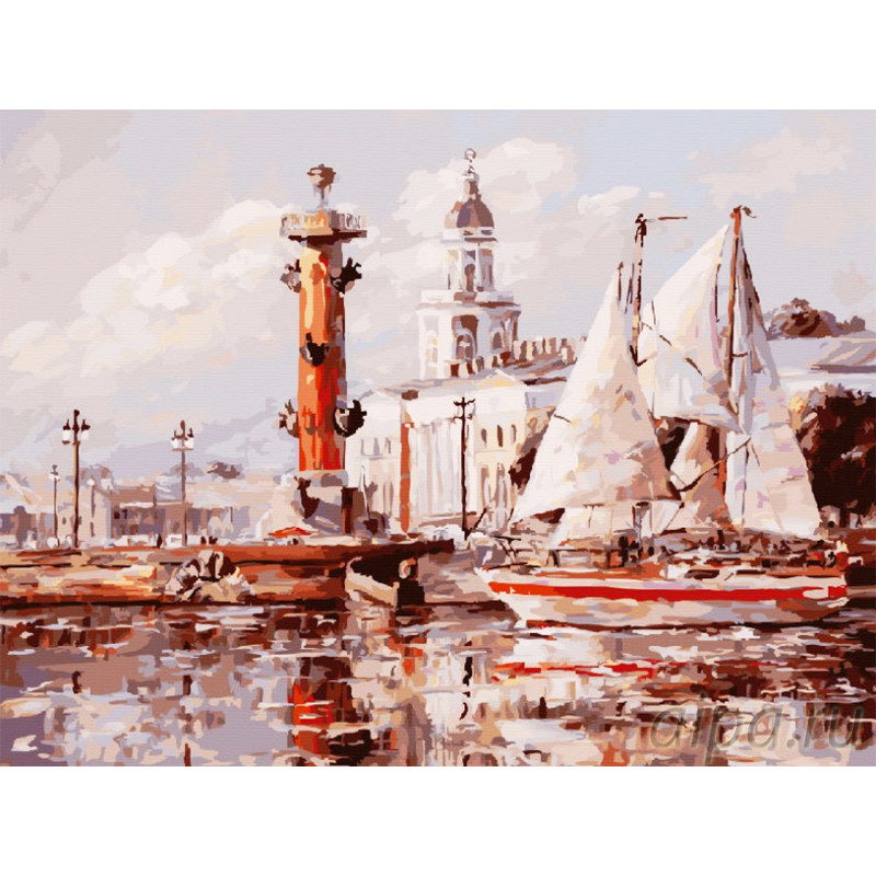 253-AS Санкт-Петербург. Кунсткамера Раскраска картина по ...