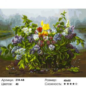 Количество цветов и сложность Утренний сюрприз Раскраска картина по номерам на холсте Белоснежка 218-AB