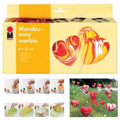 Easy marble Набор красок для марморирования Marabu ( Марабу)