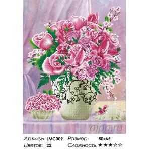 Количество цветов и сложность Сиреневое вдохновение Алмазная мозаика на подрамнике LMC009