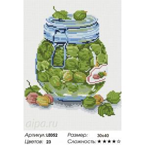 Количество цветов и сложность Баночка варенья из крыжовника Алмазная мозаика на подрамнике
