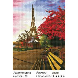 Количество цветов и сложность Прогулка по Парижу Алмазная мозаика на подрамнике