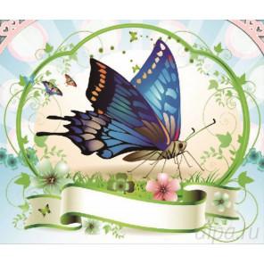 Бабочка Алмазная частичная вышивка (мозаика) D-2290