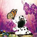Бабочка и щенок Алмазная частичная вышивка (мозаика) DY-8083