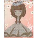 Девочка Алмазная частичная вышивка (мозаика) K-008