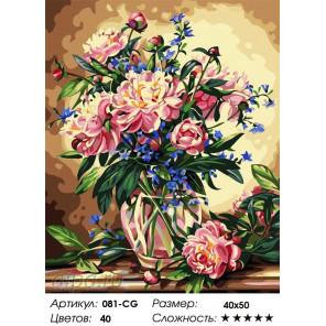 Количество цветов и сложность  Букет лесных цветов Раскраска картина по номерам на холсте Белоснежка 081-CG
