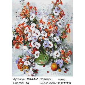 Городские цветы Раскраска картина по номерам на холсте Белоснежка