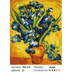 Ирисы Ван Гог Раскраска картина по номерам на холсте Белоснежка