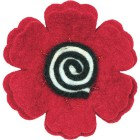 Цветок-мак Декоративное украшение из войлока Dimensions
