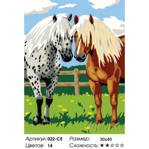 Лошадки Раскраска картина по номерам на холсте Белоснежка
