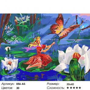 Количество цветов и сложность Маленькая путешественница Раскраска картина по номерам на холсте Белоснежка 056-AS