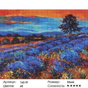 Количество цветов и сложность Лавандовые поля Алмазная вышивка мозаика Белоснежка 162-ST