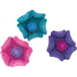 Цветки-чашечки Декоративное украшение из войлока Dimensions