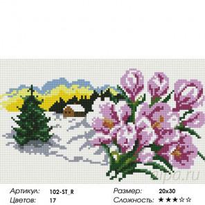 В ожидании весны Алмазная вышивка мозаика на подрамнике Белоснежка