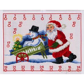Рождественский календарь Набор для вышивания календаря PERMIN