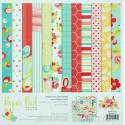 Цветочная поляна Набор бумаги для скрапбукинга, кардмейкинга Белоснежка 051-SB