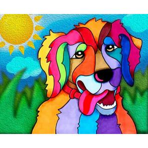 Солнечный пес Алмазная частичная вышивка мозаика Color Kit
