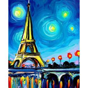 Огни Парижа Алмазная вышивка мозаика Color Kit