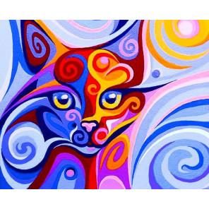 Сказочная кошка Алмазная вышивка мозаика Color Kit