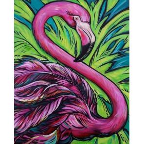 Розовый фламинго Алмазная вышивка мозаика на подрамнике Color Kit
