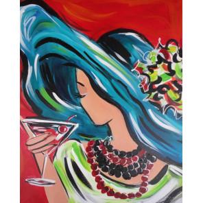 Девушка Алмазная вышивка мозаика на подрамнике Color Kit