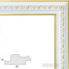 Bella Серебрянный с золотом Рамка багетная универсальная для картины 1056-BL