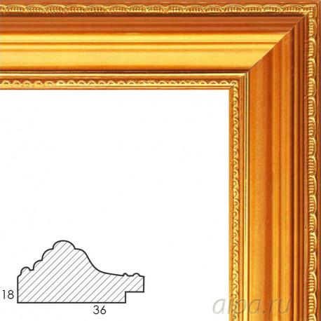 Nicole Золотая Рамка багетная универсальная для картины 1060-BL